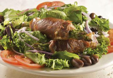 Salade tiède aux asperges et prosciutto