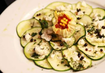 Carpaccio végétarien de stars