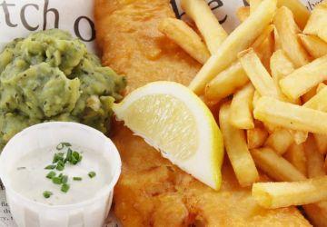Fish and Chips de morue et purée de petits pois