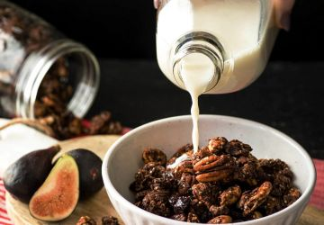 Granola cacao, noix de cajou et pacanes