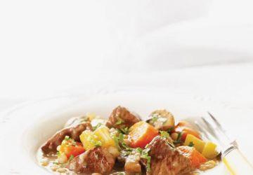 Mijoté de boeuf aux légumes et à l'orge