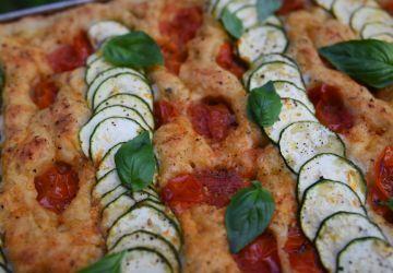 Foccacia aux tomates confites & fleur d'ail