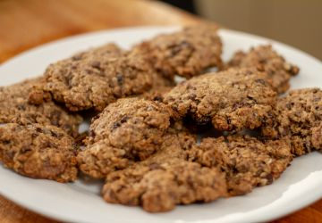 Biscuits à la farine d'avoine et poudre de grillons