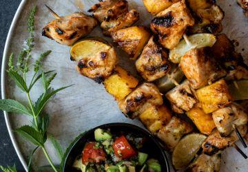 Brochettes de poulet lime et tequila