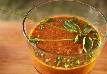 Gaspacho aux légumes grillés