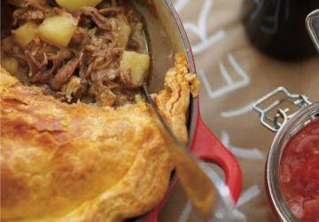Tourtière au porc braisé et au canard confit