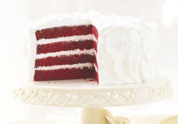 Gâteau Red Velvet et glaçage à la meringue italienne
