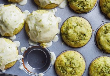 Muffins aux courgettes et à la lime