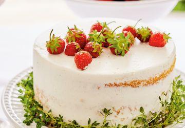 Gâteau chantilly aux fraises