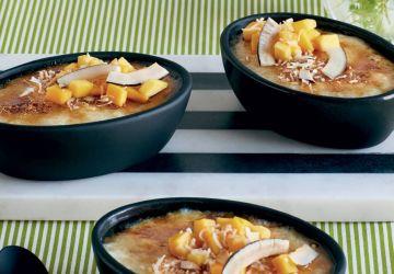 Tapioca caramélisé à la mangue et à la lime