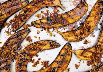 Bananes caramélisées sur le BBQ