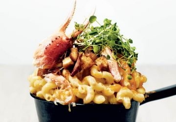 Mac and cheese au crabe
