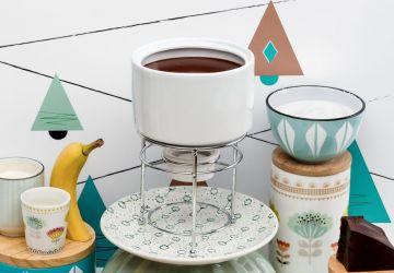 Fondue au caramel et au chocolat