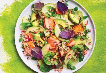 Salade de saumon rôti aux légumes croquants