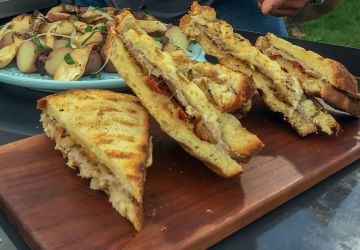 Grilled cheese au rôti de boeuf