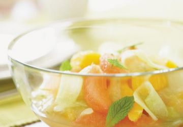 Salade de pamplemousse et d'orange «with a twist»