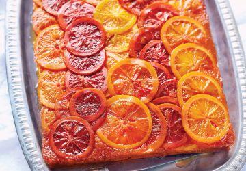 Gâteau renversé aux oranges confites