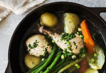 Poulet au bouillon