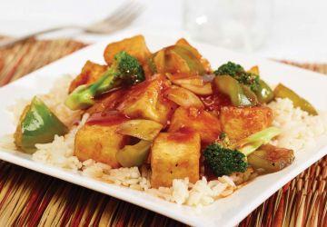 Sauté de tofu style barbecue