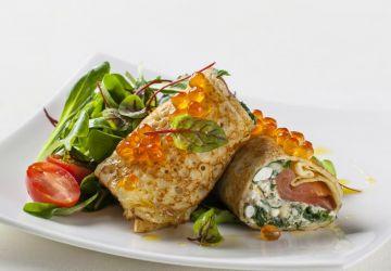 Crespelle au saumon fumé et au fromage