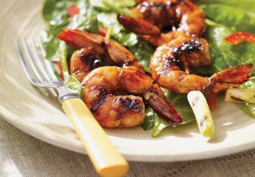 Brochettes de crevettes au balsamique