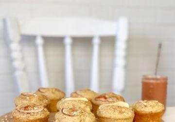 Muffins aux pommes, avoine et érable