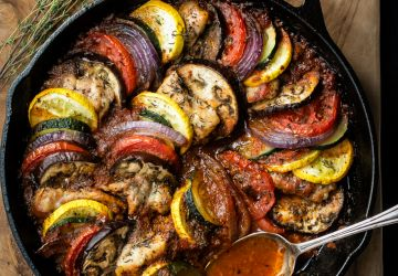 Ratatouille au poulet «one-pot»