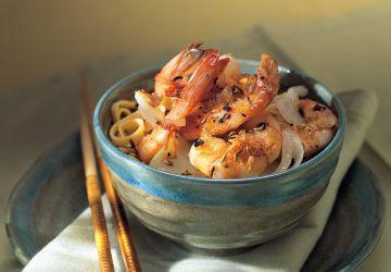 Crevettes à l'ail et au pastis