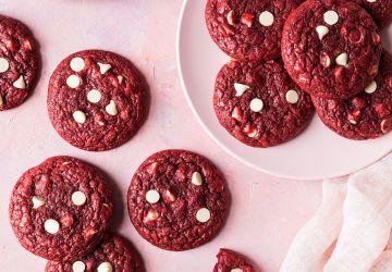 Biscuits Red Velvet et pépites de chocolatblanc