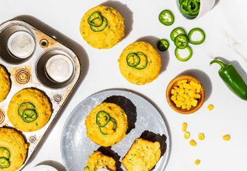 Muffins à la ricotta et aumaïs