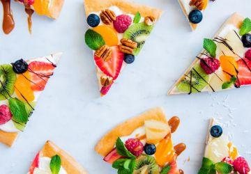 Pizza aux fruitsfrais