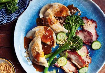Dumplings au tofu et aux champignons