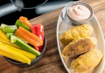 Croquettes de poulet à la purée de pomme de terre