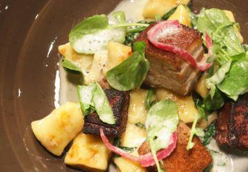 Gnocchis poêlés à la crème, au bacon et aux épinards