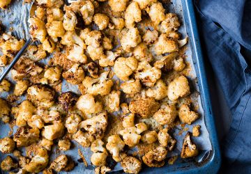 Popcorn de chou-fleurgratiné