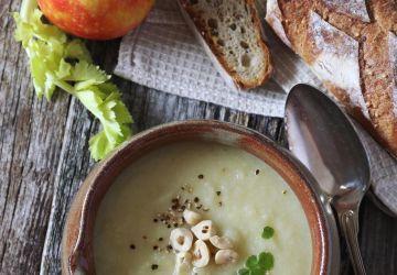 Crème de céleri et depommes