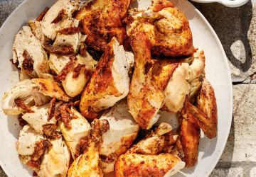 Poulets barbecue en crapaudine