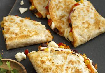 Quesadillas aux haricots et patatedouce