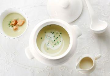 Crème de poireaux au vin blanc