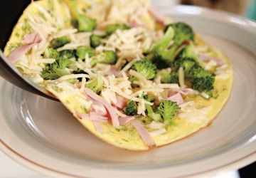 Omelette jambon-brocoli