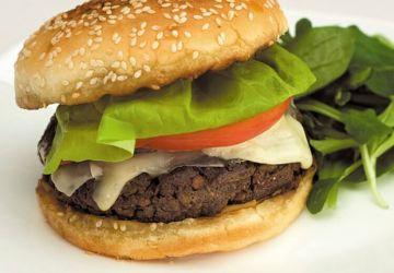 Burger végétarien au Le Délice desAppalaches