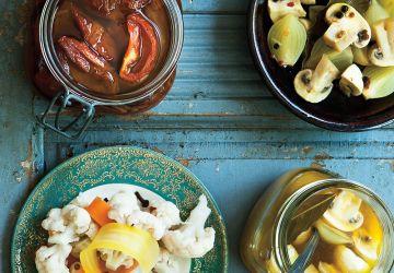 Champignons et oignons marinés à la clémentine