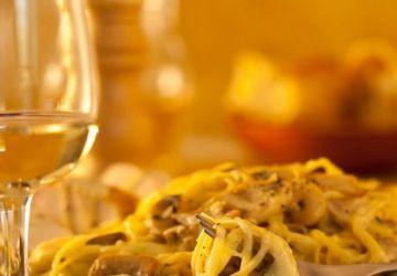 Pâtes aux champignons et fromage