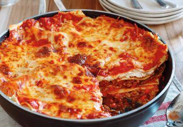 Lasagne «tout-en-un» dans une poêle