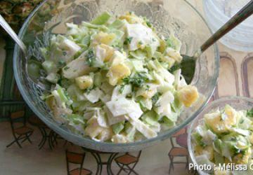 Salade de chou et d'ananas