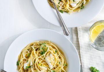 Spaghettis à l'aiglefin et au citron