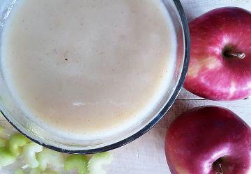 Potage de pomme, céleri et chou-fleur