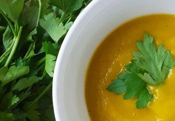 Potage de carottes et coriandre