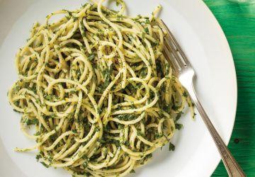 Spaghettis aux mille herbes