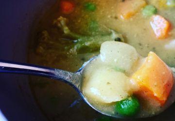 Soupe aux légumes mi-potage mi-soupe